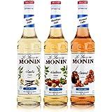 Monin Light Set (3 x 0,7 l flessen: Vanille Light, Caramel Light, hazelnoot Light)