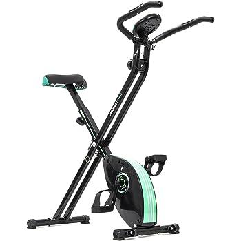 Cecotec Bicicleta Estática Plegable Magnética X-Bike Pulsómetro Y Pantalla LCD, Resistencia Variable, Pedales de Máximo Agarre, Adultos Unisex, Negro