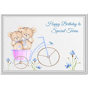Happy Birthday Card For Twins