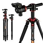 K&F Concept TM2534T Stativ Kamera Reisestativ Fotostativ Kamerastativ Aluminium mit 90 Grad Mittelsäulen...