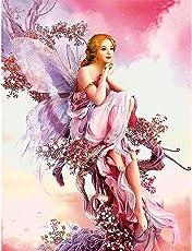 Rrimin 5D Fairy Butterfly DIY Diamond Embroidery Painting Cross Stitch Home Decor 32*45cm