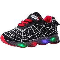 Scarpe sportive luminose a LED per bambini, con luce a fumetto, casual, da corsa, leggera, traspirante, taglia 22,5 EU…