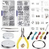FEPITO Kit di creazione di gioielli Kit di strumenti per la creazione di gioielli con pinze e pinze per la riparazione di gio