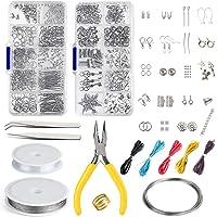 FEPITO Bijoux Faisant Kit Bijoux Trouvant Outils de Démarrage Kit avec Pinces et Étriers pour Fabrication de Bijoux…