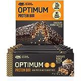 Optimum Nutrition Protein Bar 10 Barrette Proteiche con Proteine Whey Isolate in Polvere, Cioccolato, Burro di Arachidi, Scat