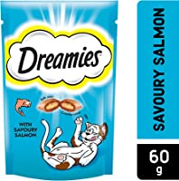 Dreamies Cat Treats, Salmon, 60 gm