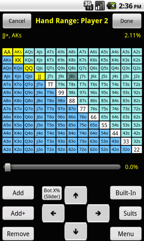 Poker odds calculator code