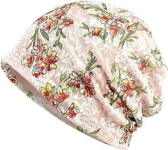 Aesy Berreto Turbante per la Perdita di Capelli Cancro Chemioterapia, Cuffia da Notte in Cotone per Chemio, Ciclismo, Corsa - Cappello Beanie Slouchy Hat per Donna