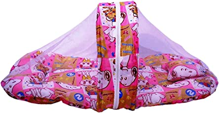 VINAB Baby Bed With Mosquito Net for newborn baby boy and baby girl(PACK OF 1)
