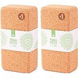 Yogablok van kurk, 70 mm, 100% natuurkurk, universeel yogablok, ideaal voor professionals en beginners, milieuvriendelijk en