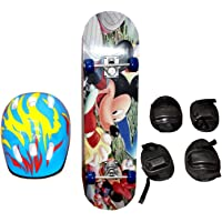 Aastha Wooden Skateboard for Kids/Children (Age 5+ Years)
