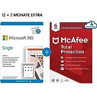 Microsoft 365 Single 12+3 Monate Abonnement   1 Nutzer   Mehrere PCs/Macs, Tablets und mobile Geräte   Download Code…