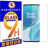 Kartronics Compatible with OnePlus 9 Premium Tempered Glass Screen Protector Slim 9H Hard 2.5D with Full Installation Kit and