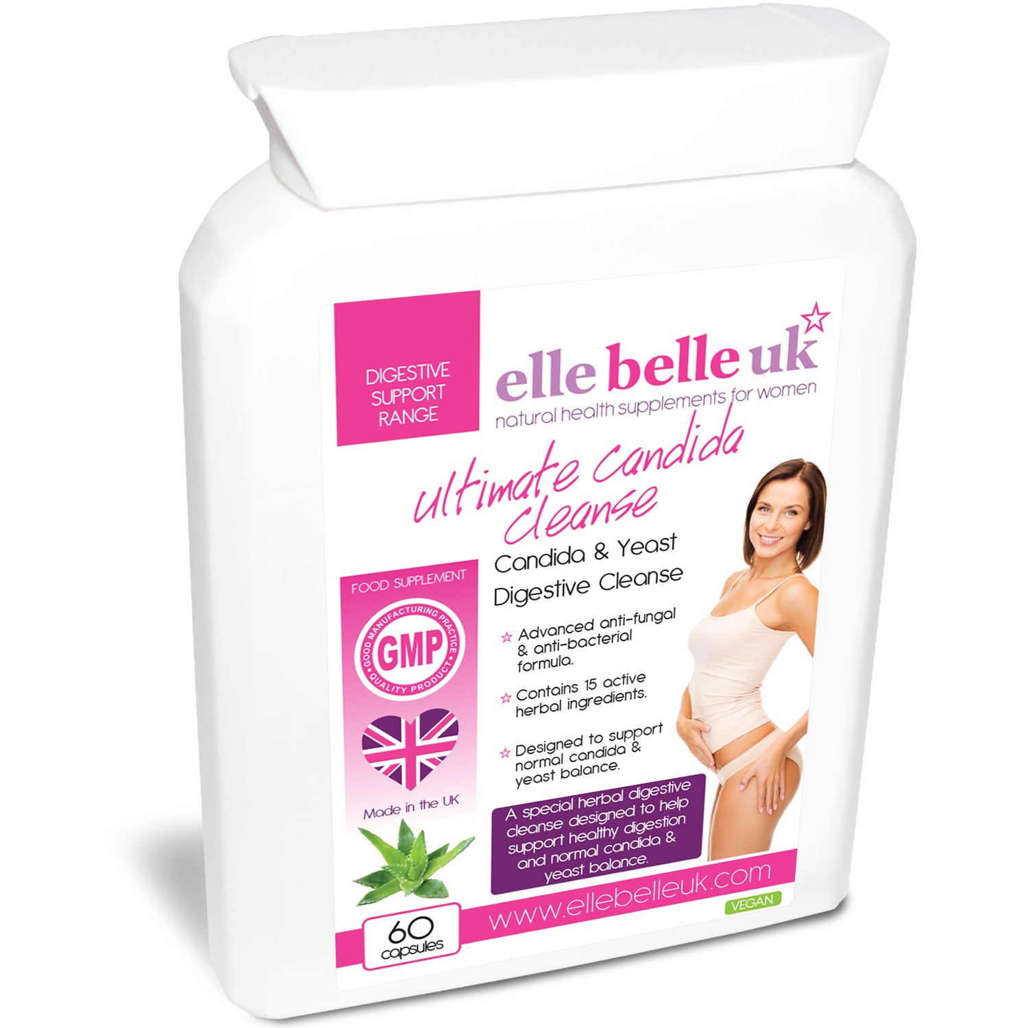 Candida probiotic herbal store buy - Ultimate Candida Cleanse Yeast Candida Support 30 Capsules Elle Belle Uk Natural Herbal Health Food Supplement Formulated To Help Support Healthy