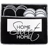 ONVAYA Zapatillas de huéspedes antideslizantes | conjunto de 6 | Zapatilla de fieltro | Hogar dulce hogar Home Sweet Home