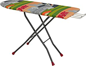 """Parasnath Heavy Duty Folding Ironing Board Table 18"""" X 48"""" (Colour May Vary, Multi-Color)"""