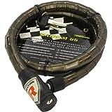 Bottari Spa 64921Magnum 66Cable antirrobo con candado y Llave de diámetro 18mm, 1000mm, Color Negro