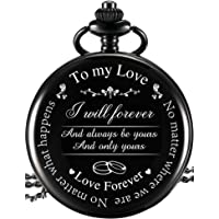 """Orologio da Tasca al Marito Moglie Fidanzato Fidanzata Regalo, Inciso""""To My Love"""" Orologio da Tasca, Love Forever…"""