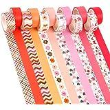 YUBX Gold Pink Washi Tape Set de ruban adhésif décoratif VSCO pour travaux manuels, journaux Bullet Journals, planificateurs,