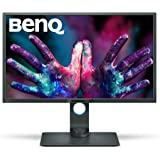 BenQ PD3200U Écran 32 Pouces pour les Designers, 4K UHD 3840x2160, IPS, 100% Rec.709, sRGB, Modes CAO / FAO, Animation, Darkroom , KVM, Télécommande raccourcis, DualView, Low Blue Light, Flicker-Free
