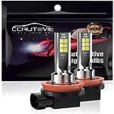 CCAUTOVIE Car LED Fog Light Bulbs H8/H11 Daytime Runing Lights DRL 60W 6000K White