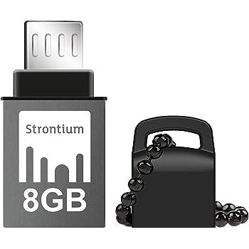 Strontium Nitro SR8GBBOTG2Z 8GB USB OTG Pen Drive (Black)