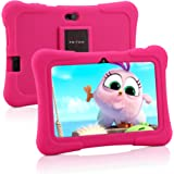 Pritom 7 Zoll Kindertablet, Quad Core Android, 1 GB RAM + 16 GB ROM, WiFi, Bluetooth, Dual Camera, Schulung, Spiele…