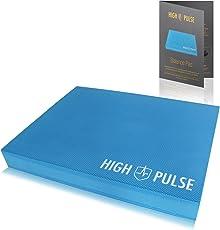 High Pulse® Balance Pad inkl. Übungsposter – Innovatives XXL Balancekissen für Ein gelenkschonendes Ganzkörpertraining und zur Verbesserung von Gleichgewicht, Koordination und Stabilität