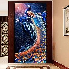 Tomtopp 5D Diamond Painting Kit Craft Full Peacock DIY Cross Stitch Home Decor 30*56cm
