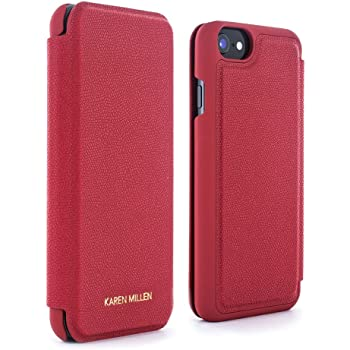 c7f6cd9cf5b Karen Millen Folio Protective Cover with Card Slot for Apple iPhone 8/7 -  Goji Berry Red