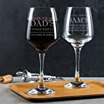Personalised Wine Glass/Engraved Wine Glass/Personalised Fathers Day Gifts/Personalised Gifts For Dad/Dad Wine Glass...