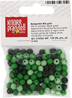 KnorrPrandell 6026240 Holzperlen lila//pink gemischt 6 mm Durchmesser