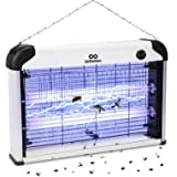 infinitoo Lampe Anti-Moustique Electrique, 20W UV LED Tueur de Moustiques Intérieur Efficace Portée 50-150m² Pièges à Mouche