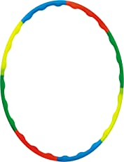 DealBindaas Hula Hoop Zig Zag for Adult Kids Premium Quality Exercise Fitness Ring Multi Colour Adjust in 2 Sizes