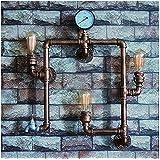 double lights ✨Vintage industrielle antiken Lichtwand Lampe Kupfer Kopf Fitting Befestigungen verstellbaren Retro Wand Wandleuchter mit E27-Sockel-Edison-Lampe