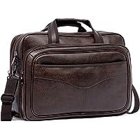 Aktentasche Herren Leder Businesstasche Männer Handtasche Groß Laptoptasche Arbeitstasche Umhängetasche Schultertasche…