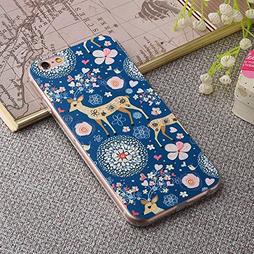 Coque iPhone 6/iPhone 6S ,Coque iPhone 6 Plus ,Coque iPhone 6S Plus Manyip TPU Silicone Souple Gel Doux Housse étui de Protection Ultra Mince Relief peint 3D Phone Case Coque(CX-01) K