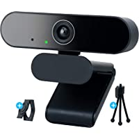 EVOCUS Webcam Pc con Microfono, Web Camera per Pc Usb Full Hd con Treppiede per Telecamera Pc e Copri Webcam Gaming…