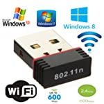 Generic WiFi Adapter 600 Mbps WiFi Receiver Mini USB Adapter WiFi Dongle 2.4Ghz Nano Adapter