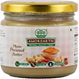 Two Brothers Organic Farms Amorearth Peanut Butter, Creamy Plain, Stoneground 300 GMS