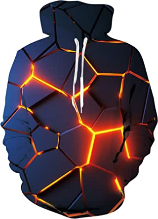 Loveternal Felpa Uomo Donna Felpe con Cappuccio Unisex Stampato 3D Hoodie Pullover Sweatshirt con Tasche M-XXL