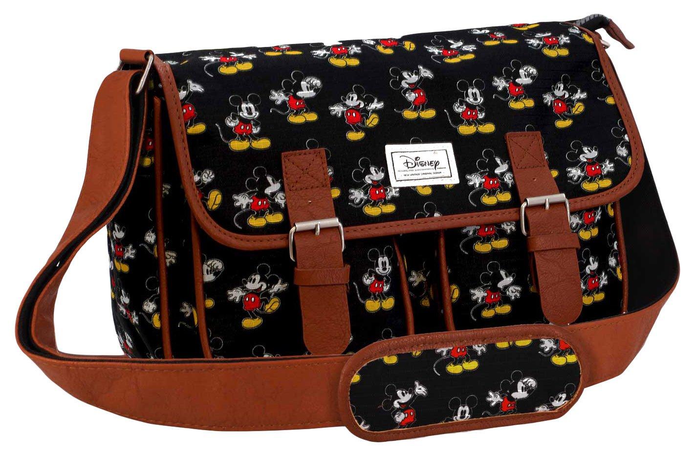 Karactermania Disney Classic Mickey Moving Bolsos Bandolera, 34 cm, Negro