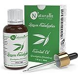 Naturalis Essence of Nature Lemon Eucalyptus (Eucalyptus Citriodora) for Dandruff and Mosquito repellent - 30ml