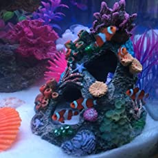 SLB Works Brand New Resin Coral Mountain View Cave Stone Landscape Aquarium Fish Tank Decoration