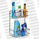Creatick - Detergent Holder/Bathroom Racks & Shelves/Kitchen Racks/Multipurpose Holder - Stainless Steel - Silver Chrome…
