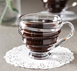 SellnShip Spiral Cups, 180 ml, Set of 6, Transparent