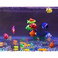 Petzlifeworld Plastic Artificial Fish for Aquarium Tank (Set of 5 Pieces)