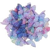 SUPVOX 20 Pz Stocking Farfalle Farfalla colorata Farfalla Decorativa in tessuto Accessori fai da te Applique Vestiti Decorazi