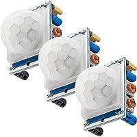 AZDelivery 3 x HC-SR501 PIR Bewegungssensor Bewegungsmelde Modul kompatibel mit Arduino inklusive E-Book!