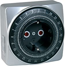 uniTEC 44018 SILVER-LINE Tageszeitschaltuhr, analog, für Innenbereich